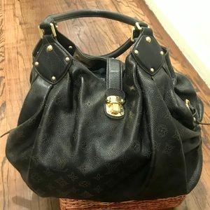 "Louis Vuitton BLK Monogram Mahina Leather ""L"" Bag"